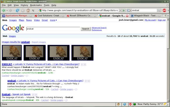 "Google Image Singleton on ""ENDCAT"""