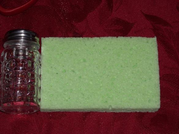 Shaker and sponge.